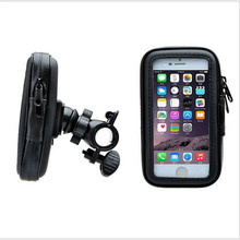 Waterproof Bicycle Bike moto mount Stand Phone GPS Holder Mount Case Bag bolsa support For Apple iPhone 6 iphone6 Plus
