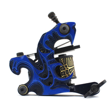 10Pcs/lot Pro Casting Iron Tattoo Machine 10 Wraps coil stainless steel Tattoos Body Art Gun Coil Machine LPC-ITM-7054-5E