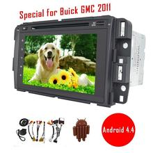 Android 4.4 for Buick GMC 2011 Car DVD radio Video Audio GPS Navigator WIFI Mirror Link in Dash Autoradio Head Unit Free Canbus