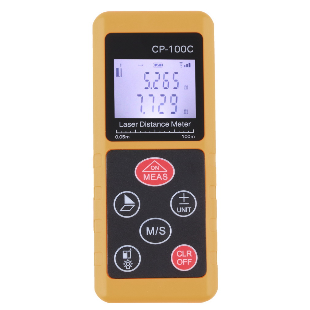 Laser Range Finder 100m 328ft Laser Distance Meter Measurer CP-100C Laser Range Finder Laser Measure Area/Volume Tool<br>