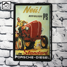 Tractor Vintage Poster Metal Tin Signs 20X30CM Iron Plate Wall Decor Plaque Pub Home Shop Cafe Garage Picture