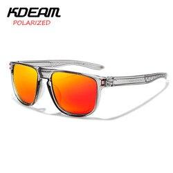 Новый стиль мужские солнцезащитные очки KDEAM брендовые поляризованные мужские классические солнцезащитные очки дизайн зеркальные очки для ...