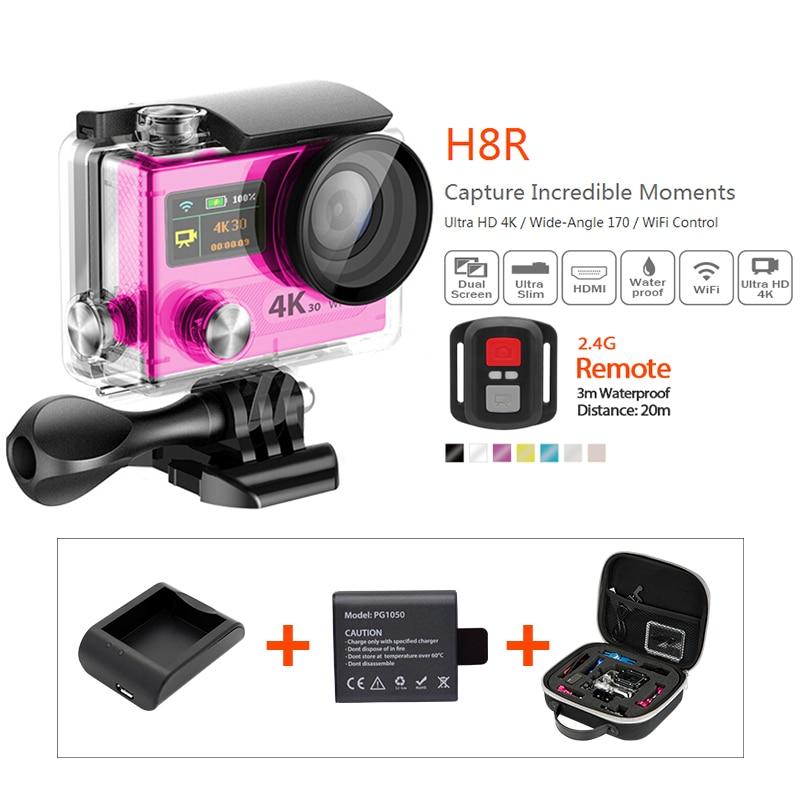 H8R 4K WiFi Action camera Full HD DVR SJ4000 video go pro camera Helmet Action Camera Waterproof DV A battery+charger+camera bag<br><br>Aliexpress