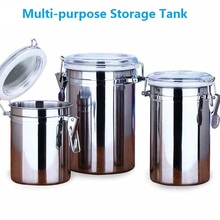 Stainless steel seal Multi-purpose Storage Tank Kitchen things Storage container Dried fruit,coffee,milk powder,tea,snacks