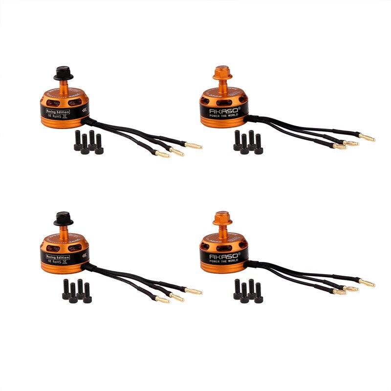 AKASO 4PCS DX 2205 2600KV 2-4S Brushless Motor CW/CCW For QAV250 QAV210 ZMR250 Robocat 270 QAV-X RC Multirotor than RS2205<br>