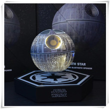10pcs dhl free shipping original new brand magnetic floating levitron starwars death star bluetooth speaker with led lighting