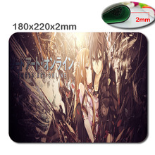 Make amazing mouse pad sword art online Kirito and Asuna custom computer notebook computer animation mouse pad rectangle(China)