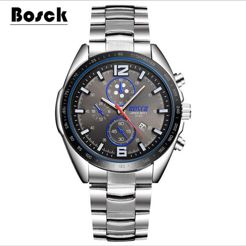 BOSCK 3122 sports mens watches, stainless steel leisure fashion luminous watches relojes hombre 2016 relogio masculino montre <br><br>Aliexpress
