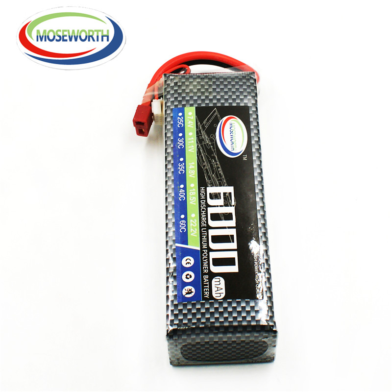 MOSEWORTH 2S RC Drone Lipo battery 7.4v 6000mAh 40C For RC airplane tank car 2s batteria cell AKKU<br>