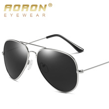 AORON Cool Pilot Aviator Sunglasses Men Polarized Male Sun Glasses For Man Famous Luxury Brand Designer Eyewear Oculos Lunette(China)