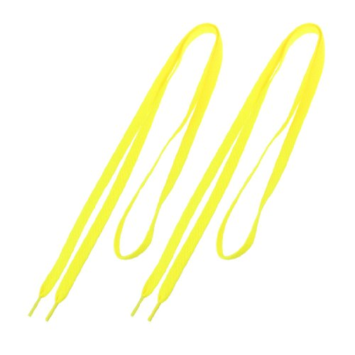 5pcs( Practical Superior Pair Yellow Flat Strings Wide Shoelaces for Sports Shoes<br><br>Aliexpress