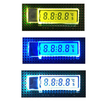 GDC0209 4 Bit LCD Display Module Digital 6 O'Clock 8 Digit Segment TN Metal Pin 2.5V LED Blue /Yellow/White Backlight Pan