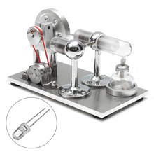Hot Air Stirling Engine Model Electricity Power Generator Motor Kit Toy Gift(China)
