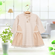 Newborn Baby Girls Organic Cotton 1 Year Birthday Christening Gown Dresses Infant Toddler Girl Lace Princess Tutu Dress Clothes(China)
