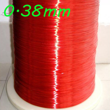 0.38mm  QA-1-155 2UEW Red Magnet Wire Enameled Copper wire Magnetic Coil Winding