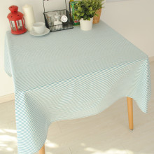 New Arrival Table Cloth Cotton+Linen Mediterranean Style Blue Stripe Dining Table Cover 140*140cm 8 Sizes Accept customized