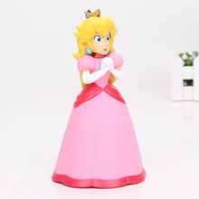 14cm Super Mario Bros Princess Peach PVC Action Figure Model Toy Christmas gift opp bag(China)