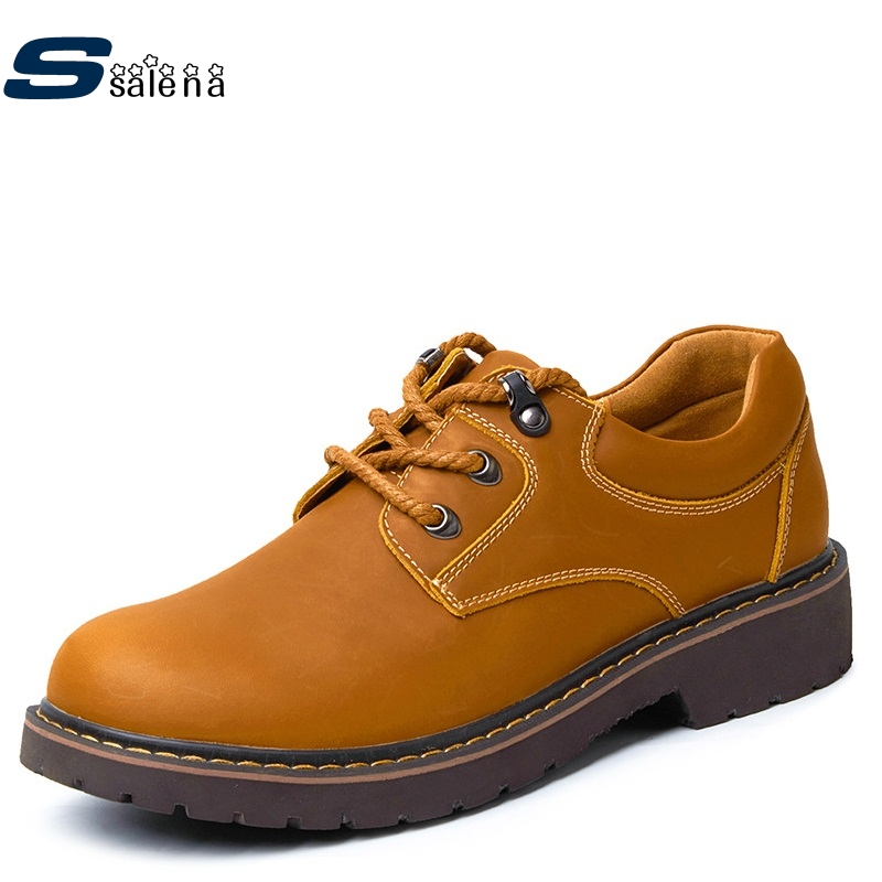 Genuine Leather Casual Shoes Men Light Weight New Design Oxfords Men Flats Fashion High Quality Shoes AA30058<br>