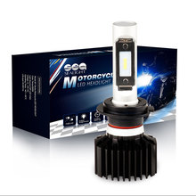 SEALIGHT Motorcycle LED Headlight Bulbs H7 Kit 25W 4000LM LED Chips Moto Lamp Cool White 6000K High Beam/Low beam Bulbs(China)