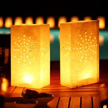 100pcs Cut Out Dots Design Candle Tealight Bags Paper Light Luminary Lantern Wedding Garden Party BBQ Decorations(China)