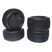 "4PCS RC 1/10 Scale Buggy Tires Front and Rear With Foam Inserts OD: 85mm/3.34"" ID: 56mm/2.2"" For Redcat HSP HPI Racing Model Car"