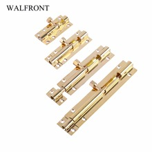 Brass Door Latch Gate Latch Lock Bolt Latch pestillos de puerta Barrel Home Gate Safety Hardware 4 pieces/lot (each size 1pc)