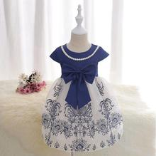 Factory direct sales new 2-7 year old girl summer fashion bow dress