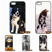 For iPhone 4 4S 5 5C SE 6 6S 7 Plus Galaxy J5 A5 A3 S5 S7 S6 Edge Enjoy Border Collie Dog Breed Print Hard Phone Case Cover
