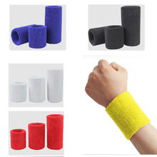 3 Size Outdoor Running Sports Sweatband Wrist Bands Elastic Basketball Gym Wristband Towel Bracers Sports Accessories(China)