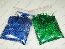 "50g x 1/24""(1mm)Laser Holographic Dark Blue&Green Dazzling Diamond Glitter Paillette Spangles Shape for Nail Art &Glitter Crafts"