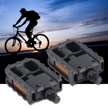 1 Pair Universal Plastic Mountain Bike Bicycle Folding Pedals Non-slip Black For All Types of Bike