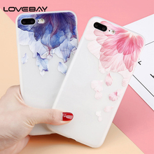 Buy Lovebay Phone Case iPhone X 8 7 6 6s Plus 3D Relief Flower Ultra Thin Scrub Silicone Soft TPU Back Cover Cases iPhone 8 for $1.32 in AliExpress store