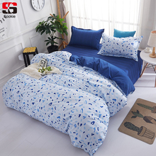 Sookie Blue Dots Print Bedding Set Twin Full Queen King Size Duvet Cover Sets Modern Style Soft Bedclothes 3pcs Bed Linen(China)