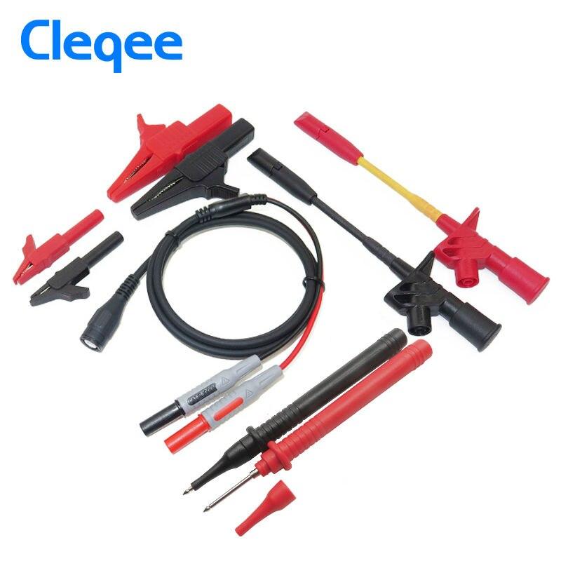 Cleqee P1800C 9-in-1 BNC Electronic Specialties Test Lead kit Automotive Test Probe Kit Universal Multimeter probe leads kit<br><br>Aliexpress