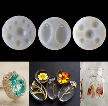 3pcs/Set Half Round/Teardrop Cabochon Silicon Mold Epoxy Resin Jewelry Making