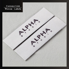 custom brand label garment high quality washable handmade clothing care labels sewing on cloth customized with own logo labels