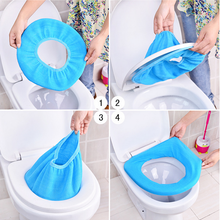 1pc Hot Color Soft Toilet Seat Cover Warmer Bathroom Products Pedestal Pan Cushion Pads Washable Bathroom Toilet Seat Covers(China)