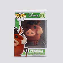 Funko POP PUMBAA Cute Pig No.87 The Lion King Simba Vinyl Figure Cartoon Decorative Collection Anime Model Toy toys for kids