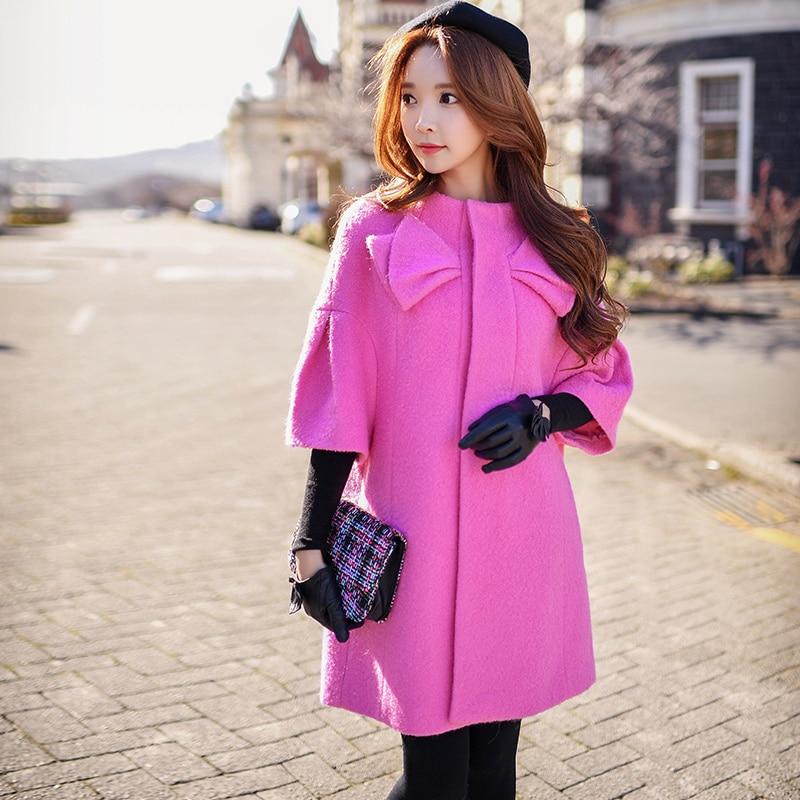 Шерстяная Верхняя одежда Новинка 2017 на осень зиму свободные модные повседневные