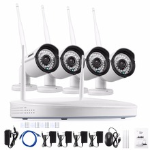 ANNKE 4CH CCTV System Wireless 960P NVR 4PCS 1.3MP IR Outdoor P2P Wifi IP CCTV Security Camera System Surveillance Kit(China)