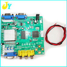Free shipping RGB/CGA/EGA/YUV to VGA Video Converter Board CRT to LCD monitor converter board for game machine