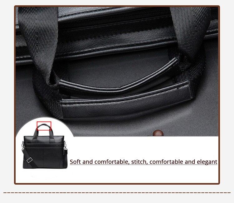 2020 męska biznes czarna torba na co dzień teczka ze skóry pu męska duże torba z rączkami brązowy wysokiej jakości mężczyzna biznesu dużej pojemności -