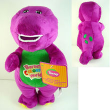 "1PC/Lot 11"" /30cm Musical Purple Dinosaur Barney Plush baby Toy The Dinosaur Sing song Good Toys Doll for children Kids Gift"