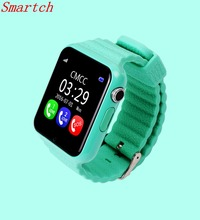 Smartch Original V7K GPS Bluetooth Smart Watch for Kids Boy Girl Apple Android Phone Support SIM /TF Dial Call and Push Message