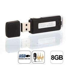 Best price ! Mini USB Digital Pen Audio Voice Recorder Dictaphone 8GB Flash Drive U-Disk BK high quality jun29(China)