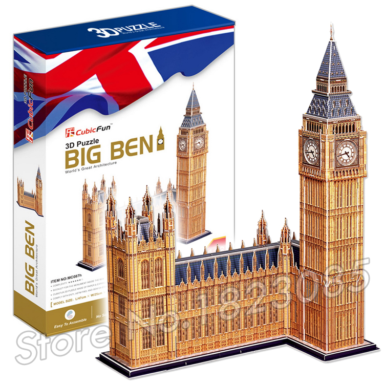 116PCS The Big Ben 2017 New 3D Puzzle DIY Jigsaw Assembly Model Building Set Architecture Creative gift Kids Toys for boys<br><br>Aliexpress