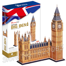 116PCS The Big Ben 2016 New 3D Puzzle DIY Jigsaw Assembly Model Building Set Architecture Creative gift Kids Toys for boys(China)