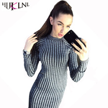 Buy HIJKLNL Autumn Winter Knitted Sweater Striped Dress 2017 Women Fashion Bright Wire Slim Fit Long Sleeve Dresses Vestido NA171 for $16.58 in AliExpress store