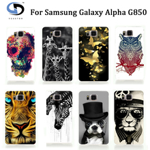 2017 Unique Animal Designs Tiger Owl Cell Phone Cases For Samsung Galaxy Alpha G850 Case Cover Skin Shell