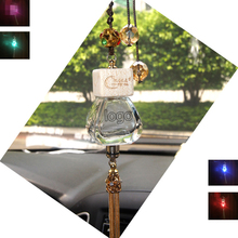 Car perfume pendant Empty bottle colorful RGB led light Air Freshener crystal For BMW M3 M5 E63 E64 E65 E86 E85 E92 E93 E61 F E